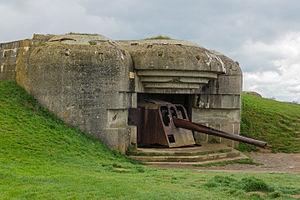Batterie longues sur mer bunker gun 2
