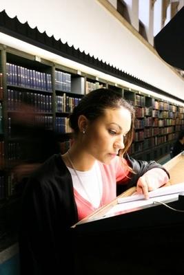 Reading room girl