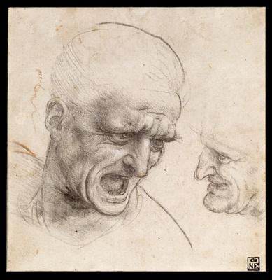 Leonardo da vinci   study of two warriors