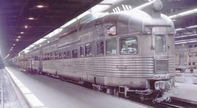 Photo chicago union station burlington california zephyr vista dome 1970