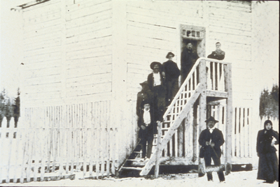 Men on stairs