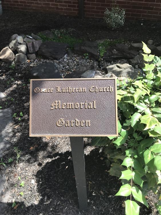 Grace memorial garden sign