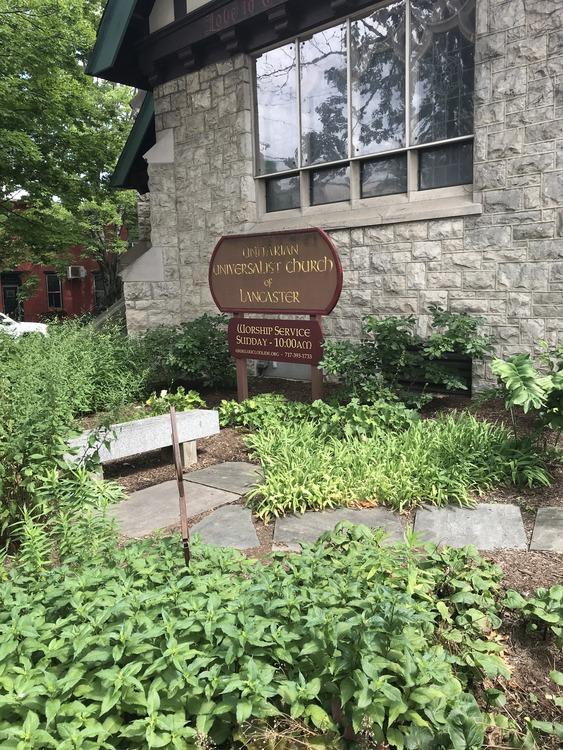 Uu church sign with garden 1