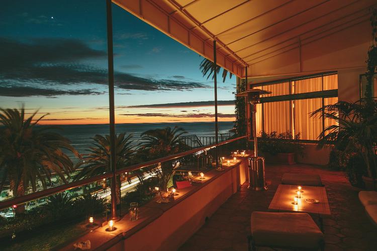 Oceanview balcony evening