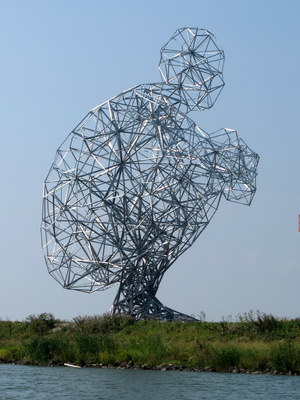 Exposure of antony gormley by herman verheij at lelystad 1