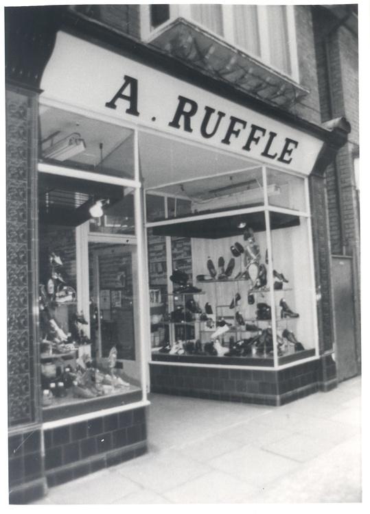 Alice ruffles outside store