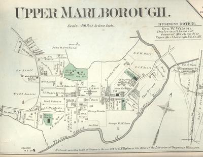 Upper marlboro 1878 map
