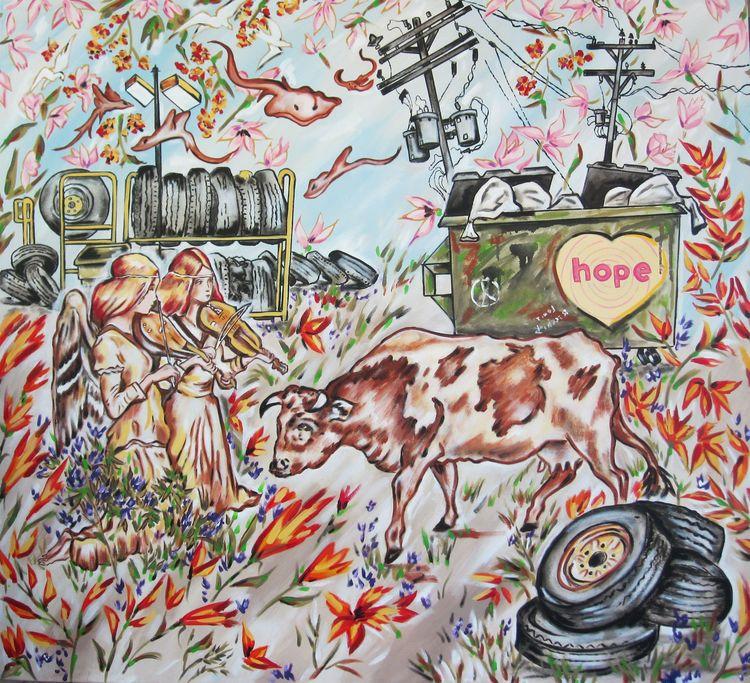 Recchia  louis how now 42x46 oil on canvas