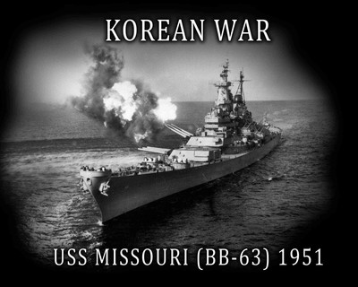 Navy uss missouri korea