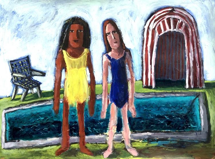 Breunig  karen girls at the pool