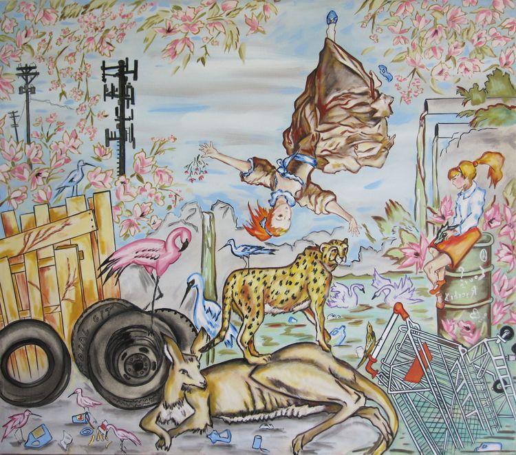 Recchia  louis bystander 42x48 oil on canvas