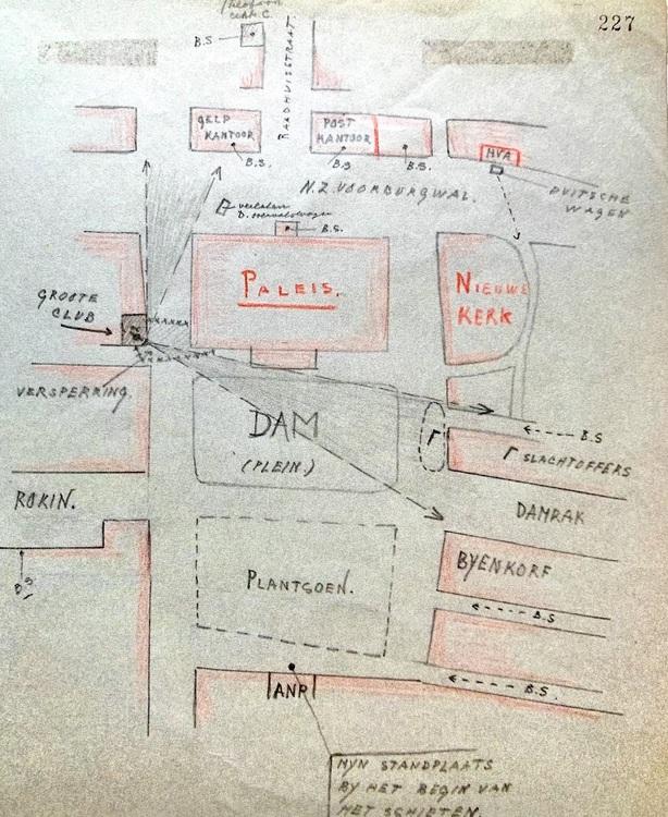 4. schietpartij dam  c.f. overhoff 1945  nationaal archief