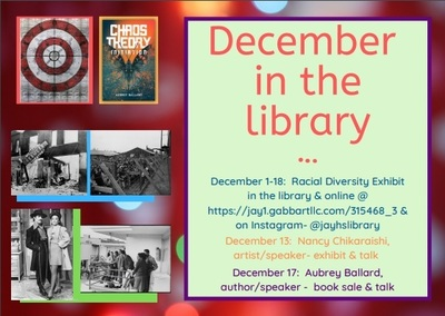 December in the library poster