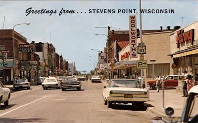 Stevens point postcard