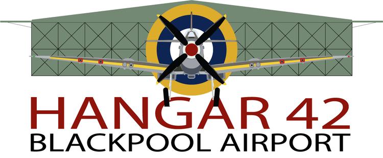 Hangar 42 blackpool logo 2020
