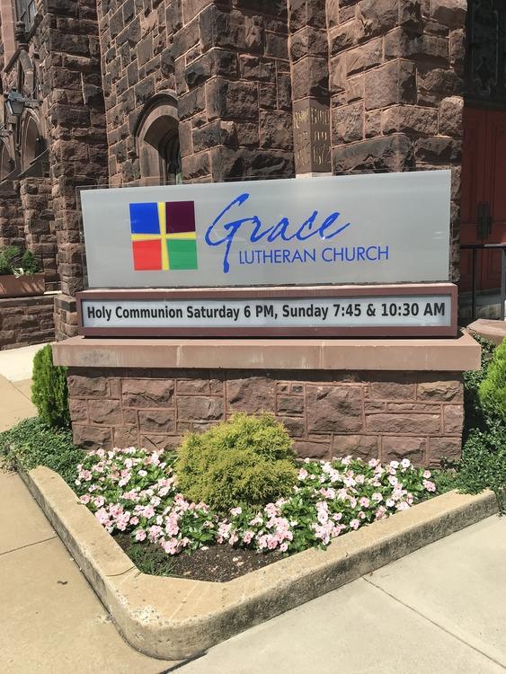 Grace church sign