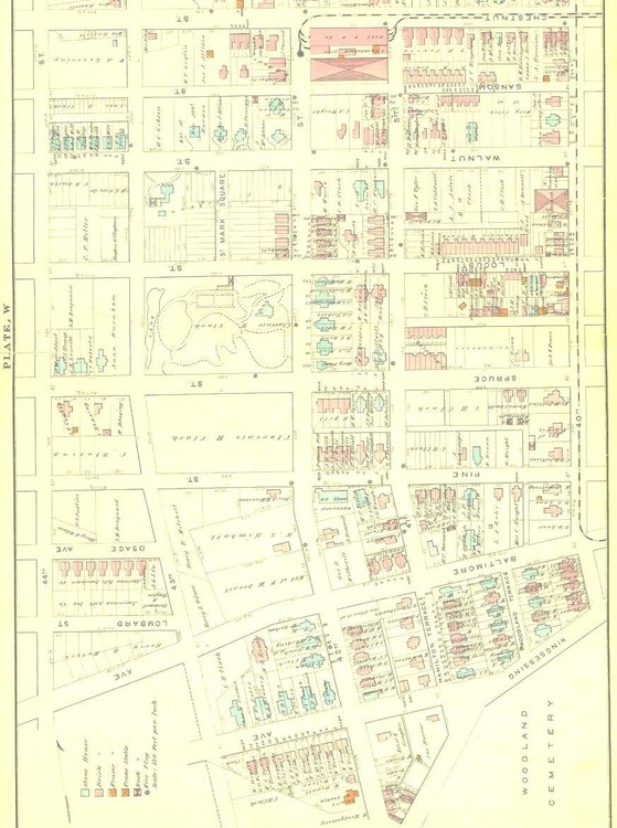 Map of 24th and 27th wards 1878