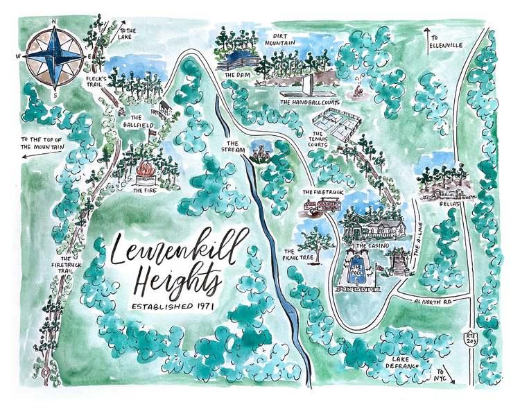 Leurenkill painted map